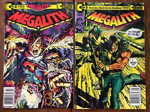 Megalith #2 & #5 (1989-91, Continuity Comics) Neal Adams art & cover