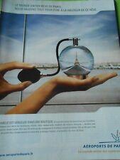 Publicté Advertising 2005  Aéroports de Paris Boule de neige Tour Eiffel