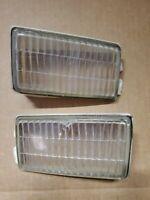 PORSCHE 911 930 SET ORIGINAL BOSCH CLEAR FOG LIGHT LENSES HOUSINGS 1984 -`89