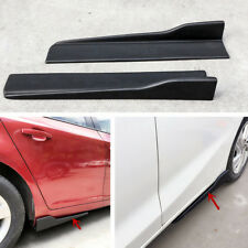 45CM Universal ABS Car Side Skirt Rocker Splitters Winglet Wings Canard Diffuser