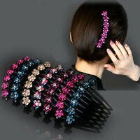 Women's Hair Comb Pins Slide Hair Accessories Flower Hairpin Disk Hairclips