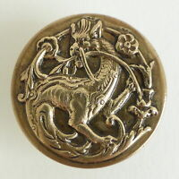 Bouton ancien - Historié Dragon 22 mm - Vintage Picturial Button dragoon <.7/8