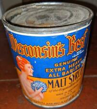Wisconsin Mercantile Co Wisconsin'S Best Malt Syrup Tin Can Sign 2 1/2#