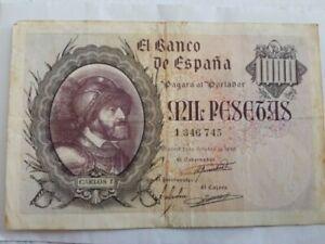 Billete de 1000 pesetas 1940 Carlos I