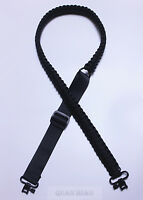 Adjustable Paracord Tactical 550 Rifle or Shotgun Gun Sling Strap With Swivels