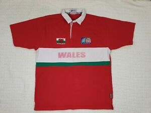 iRB Rugby World cup 2003 Australia Wales Short Sleeve Shirt Cooper XL