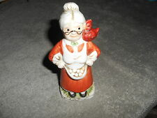 TRIPPIES INC. TAIWAN 1987 LADY FIGURINE  - WITH CHICKEN AND EGGS