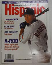 Hispanic Magazine Alex Rodriguez Texas Rangers April 2002 053015R