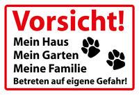 Vorsicht Hund Motiv 1 Blechschild Schild gewölbt Tin Sign 20 x 30 cm FA1105