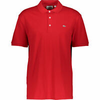 New Lacoste Red Polo Shirt Slim Fit  RARE Silver Badge Size 7 2XL XXL RRP £100