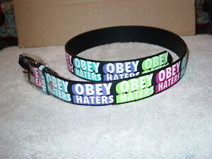 OBEY HATERS LEATHER BELT