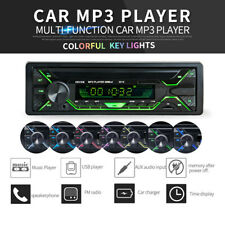 Single DIN LCD Bluetooth Car Stereo Radio Audio MP3 Player 7 Colors FM SD USB