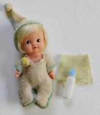 """Vintage 4"""" Uneeda Baby PeeWee Doll 1966 Original Clothes Hong Kong #5"""