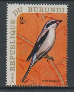 Burundi - 1970, 2f Great Grey Shrike, Bird stamp - MNH - SG 536