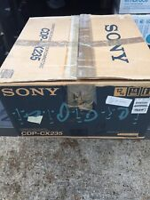 New listing Sony Cdp-Cx235 Cd Player 200 Disc Mega *No Remote* With Box Free Shipping!