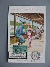 ITALY, maximumcard maxi card FDC 1948 bridge Bassano, railwy train