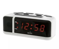Acctim Adelphi Red LED Mains Electric Bold Bedside Alarm Clock 15082 New