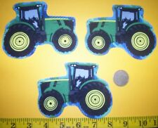 New! Cool! Big John Deere Tractors IRON-ONS FABRIC APPLIQUES IRON-ONS