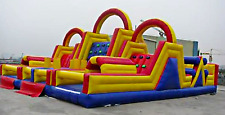 Inflatable Obstacle Course Bounce House Commercial Slide Trampoline 45x28x18