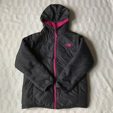 NWOT North Face Girl's Pink/Brown Reversible Hooded Jacket Size XL (18)