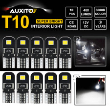 10X No Error T10 194 168 LED Interior Map Dome License Marker Trunk Cargo Lights