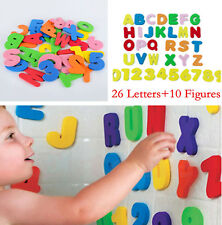 USA 36Pcs Child Early Educational Toys Multi-colour Foam Letters+Number Learning