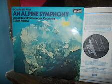 STRAUSS: An Alpine Symphony > Los Angeles Mehta / Decca SXL stereo UK VG++