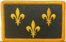 ÎLe-de-france Flag Embroidered Iron-On Patch Military BLACK & GOLD Version