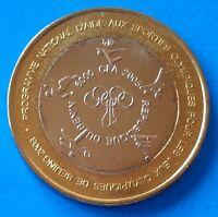 Benin 6000 CFA francs 2005 UNC Beijing Olympics, Elephant Bi-metallic unusual