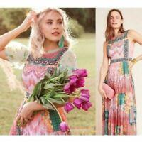Anthropologie Bhanuni By Jyoti Alessandra Beaded Maxi Dress 2 4 6 8 $228