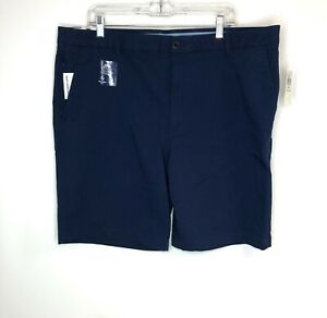 Izod Mens Navy Blue Shorts Zip Cell Phone Pocket Sun Control 42 x 9.5