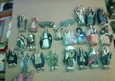 10 pastori vestiti terracotta con nativita' 10 cm crib shepherd alta qualita a15