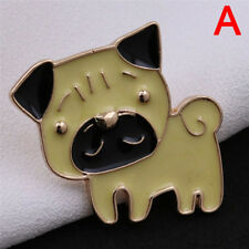 Pet Dog Bulldog Pug Collar Pin Badge Cute Enamel Brooch Pin Women Jewelry Gift L