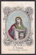 SANTA VERONICA 01 SANTINO HOLY CARD IMMAGINETTA - BENZIGER n 20  - 1800