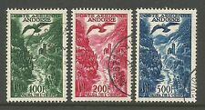 FRENCH ANDORRA. 1955. Pictorial Airmail Set of 3. SG: F163/65. Very Fine Used.
