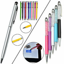 2 in 1 Capacitive Touch Screen Stylus Ball Point Pen For iPhone iPad Tablet PC