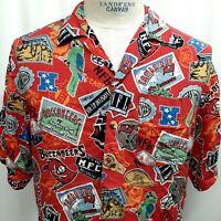 NFL Tampa Bay Buccaneers Football 100% Rayon Hawaiian Shirt Medium Short Sleeve