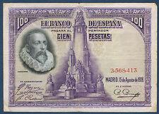 BILLET de BANQUE D'ESPAGNE 100 PESETAS Pick n° 76 du 15-8-1928 en TB 2,568,413