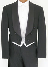 43S Black Tuxedo Tailcoat Jacket Debutante Caroler Charles Dickens Theater Tails