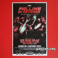 Falling In Reverse 2019 Original 11x17 Concert Promo Street Poster. Portland Or