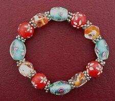 Style Stretch Bracelets Ms8 Lovely Red Orange Blue Murano