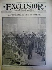 WW1 Poincaré a Juego Palma Polonia Jubilación Alemana Excelsior 22 Dec. 1914