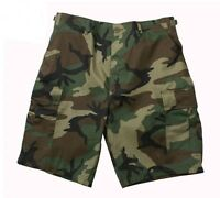Rothco 65212/7056 Woodland Camo BDU Shorts - Rip Stop or Regular