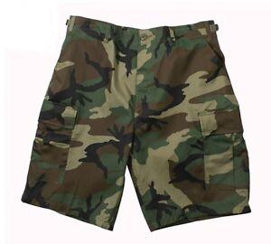 Rothco 65212/7056 Woodland Camo BDU Shorts - Rip Stop or Regular