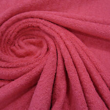 Stoff Meterware Baumwolle Frottee Frotté doppelflorig fuchsia pink weich