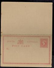 Old Mint Unused South Australia Postal Stationery Dual Postcard