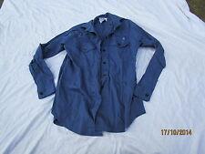 Shirt Womans Working Dress,Royal Navy,Cotton FR,blaues Hemd,Gr. 35/96