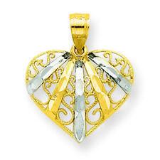 Women's 10K Gold Heart Charm Pendant MSRP $140