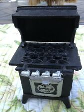 Old Cast Iron Miniture Cook Stove Darling Piece
