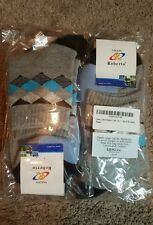 Leevo Men's Gray & Sky Diamond pattern socks, 4 pair